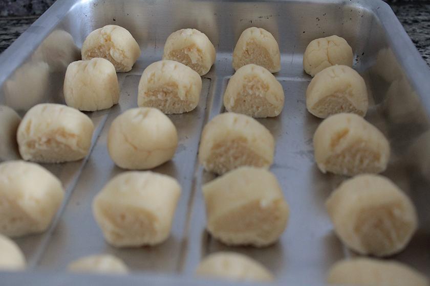 Pães de queijo forma fleischmann
