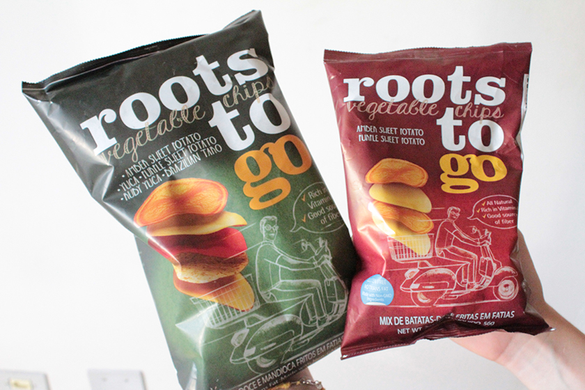 Chips vegetal roots to go
