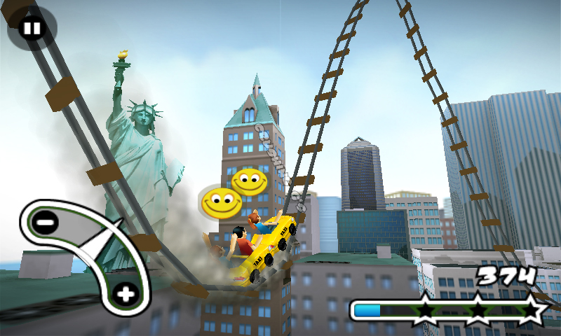 Roller coaster rush new york jogo android e ios