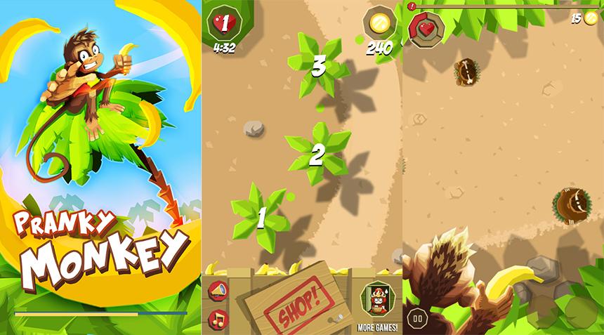 Pranky monkey jogo android e ios