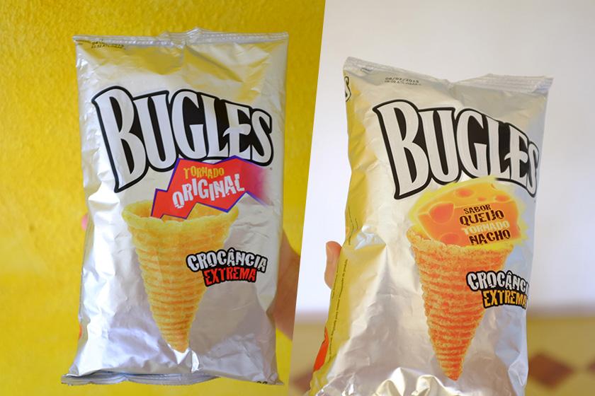 Salgadinho Bugles sabores