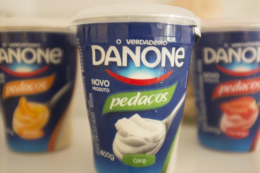 Iogurte Danone com pedaços