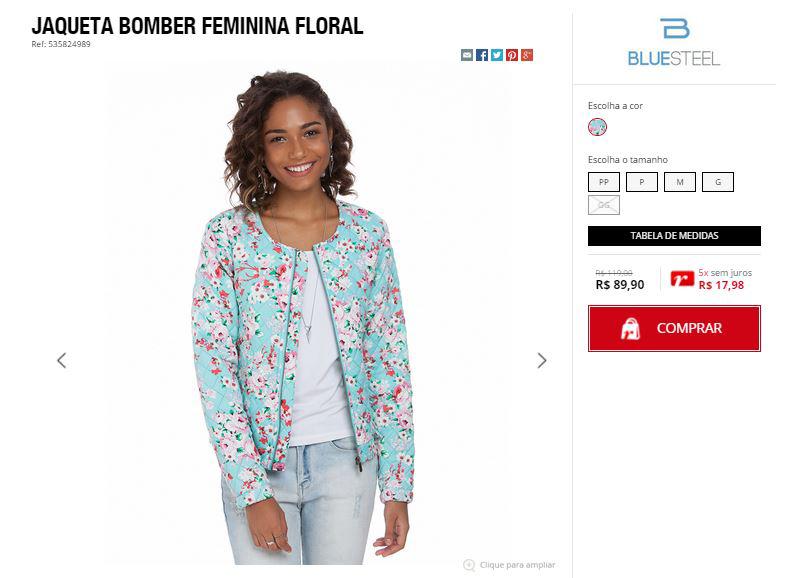 Preço jaqueta Renner comprar online