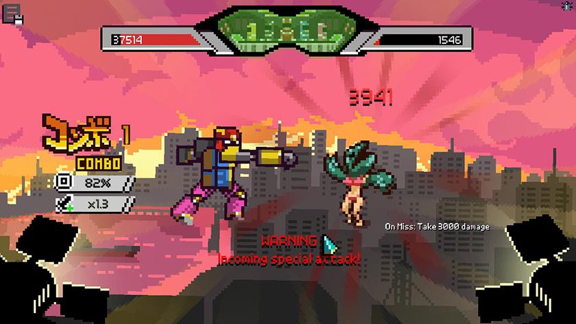 Lutas com robôs Chroma Squad