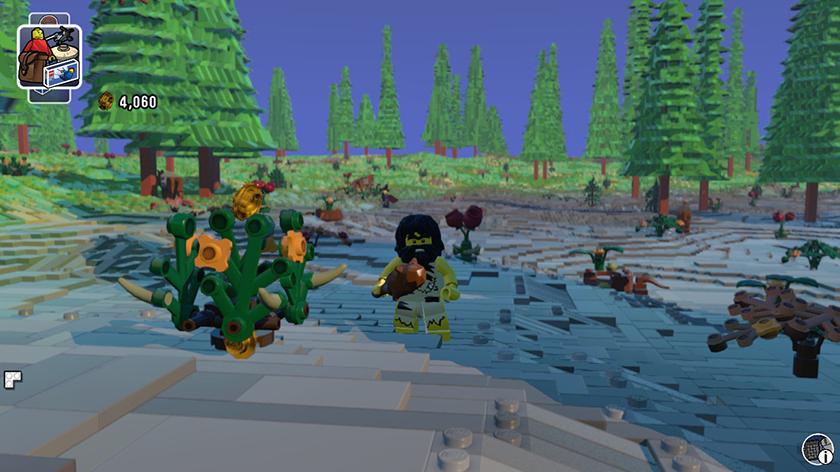 Lego Worlds coletando peças