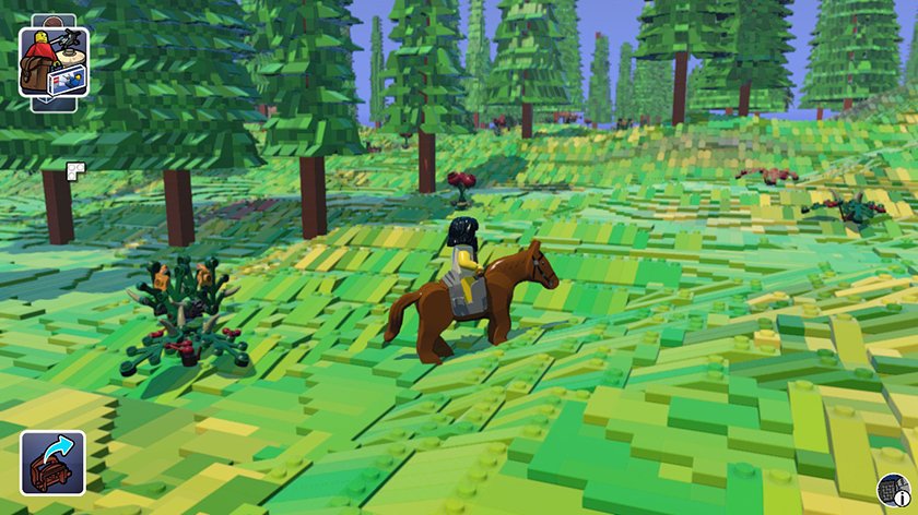 Lego Worlds montaria cavalo