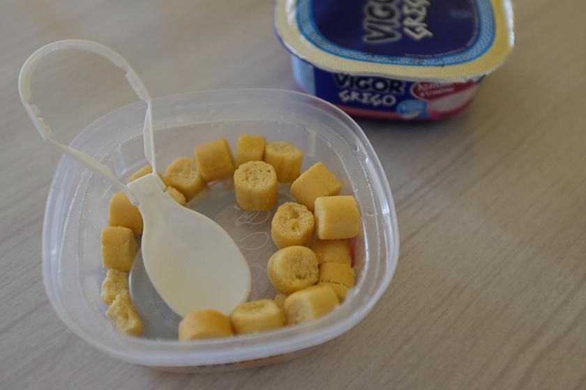Croutons iogurte Vigor grego salgado