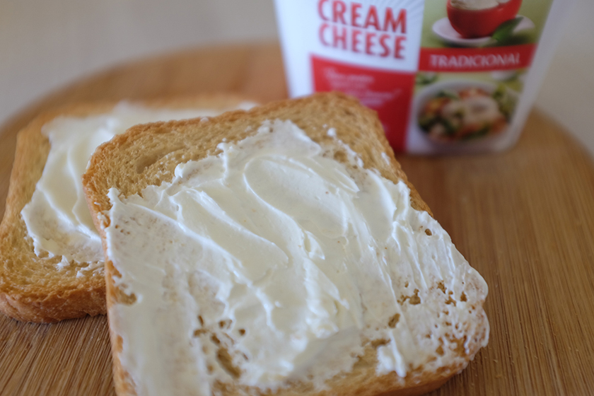 torrada com cream cheese danúbio