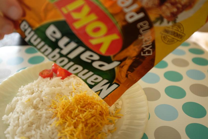 Mandioquinha palha Yoki no arroz