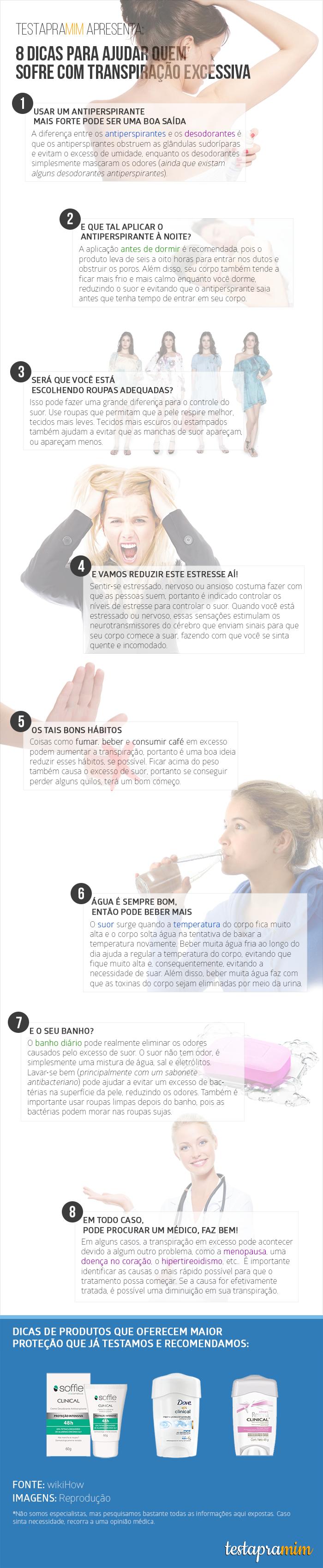 Infográfico transpiração excessiva Soffie Dove Rexona