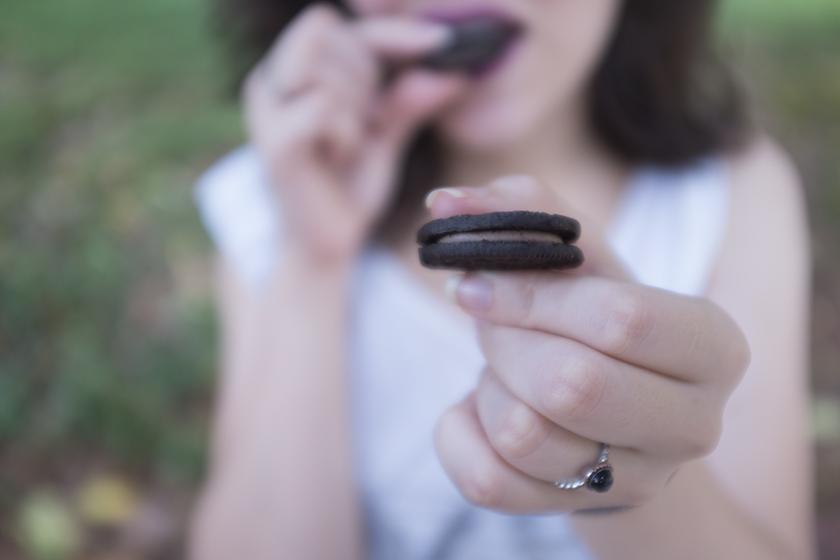 Oreo com recheio de chocolate