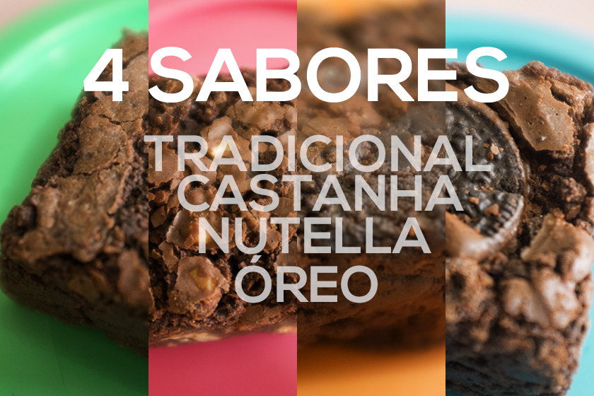 Brownies Tabuleiro são 4 sabores