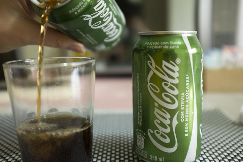 Coca-Cola Stevia coloração no copo