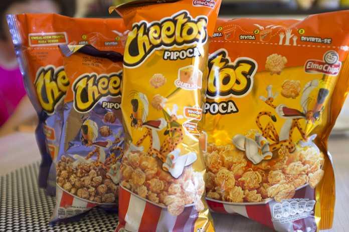 Novas pipocas prontas Cheetos