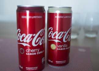 Novas coca-colas cherry e baunilha