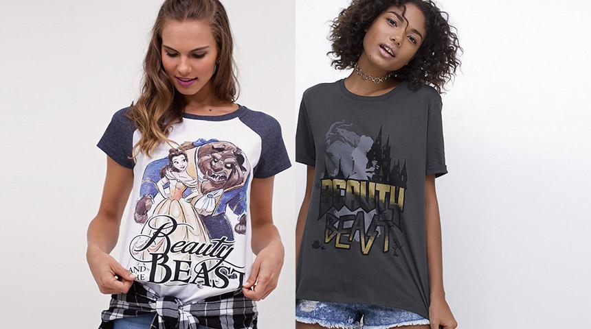 Blusas Femininas A Bela e a Fera