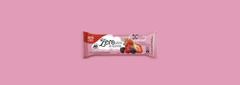 Sorvete Zero Açúcar frutas vermelhas Kibon
