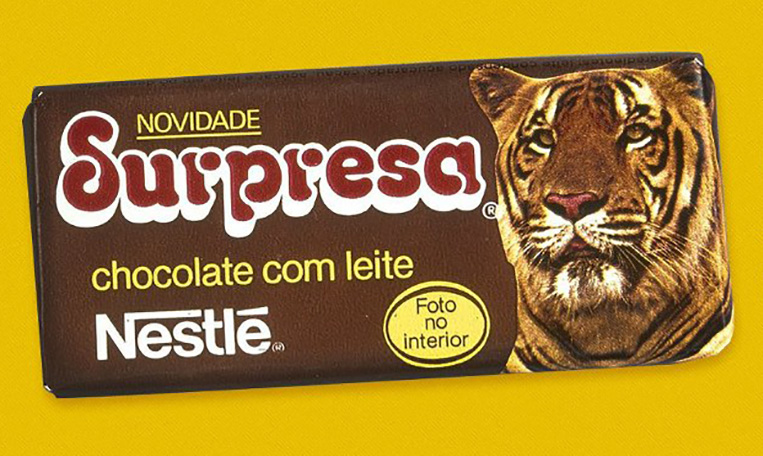 Chocolate Surpresa década de 80