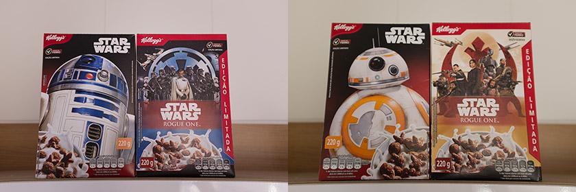 Ilustrações cereal Kellogg's Star Wars