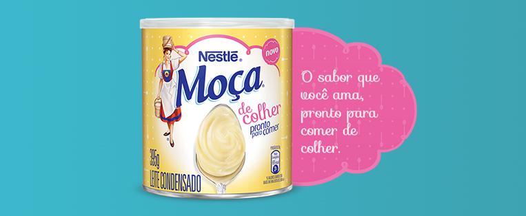 Novo Leite Moça para comer de colher Nestlé