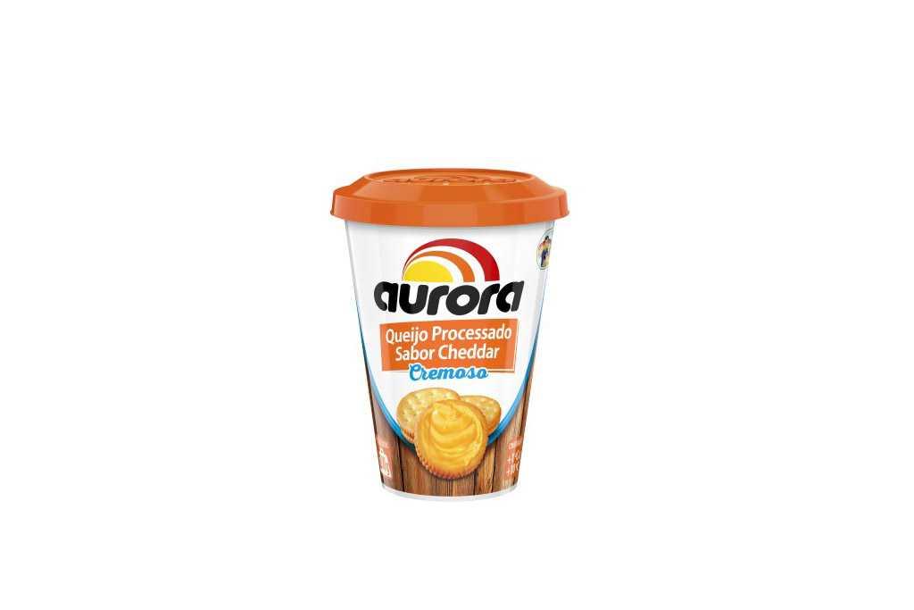 Novo queijo processado Cheddar Cremoso Aurora