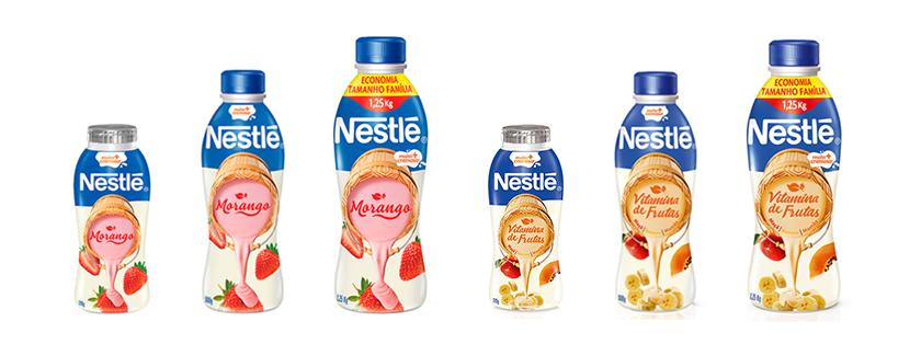 Nova linha de iogurtes Nestlé: Morango e Vitamina de Frutas