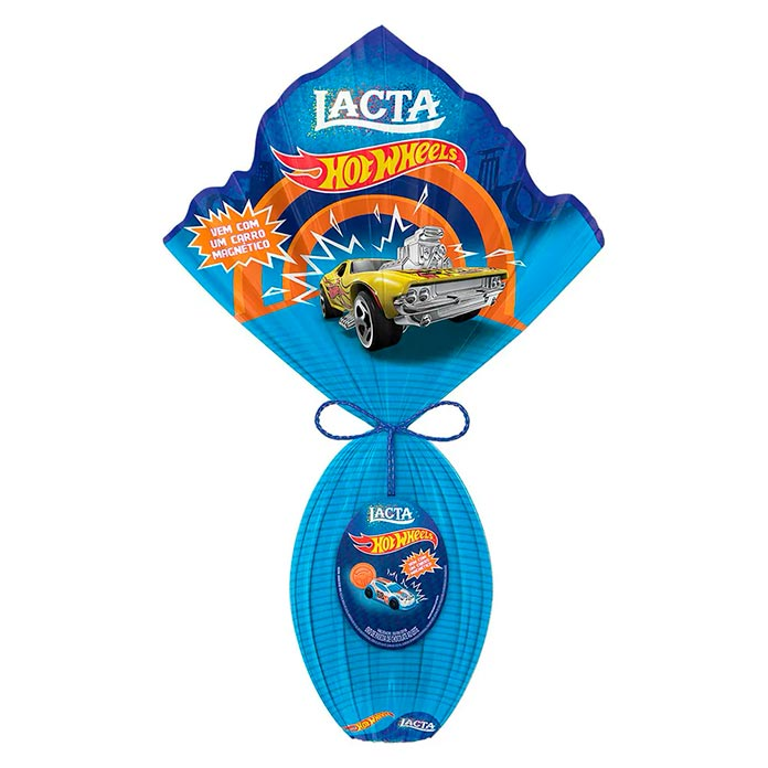 Ovo de Páscoa Hot Wheels Lacta 166g