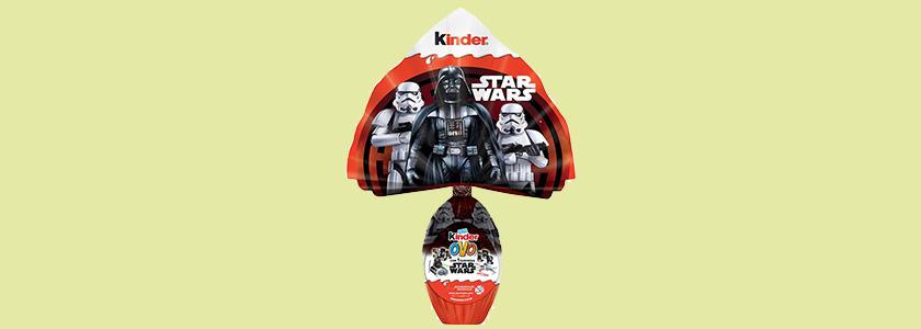 Ovo de páscoa infantil Star Wars Kinder