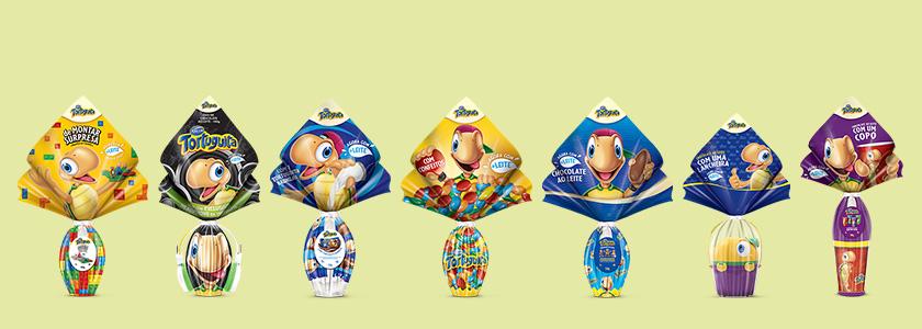 Ovos de páscoa infantil Tortuguita Arcor