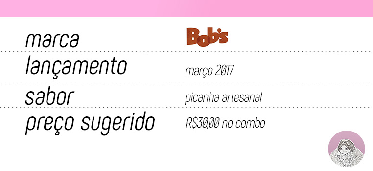 Tabela Big Bob Picanha Artesanal do Bob's