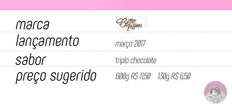 Tabela Butter Toffes Chokko Triplo Arcor