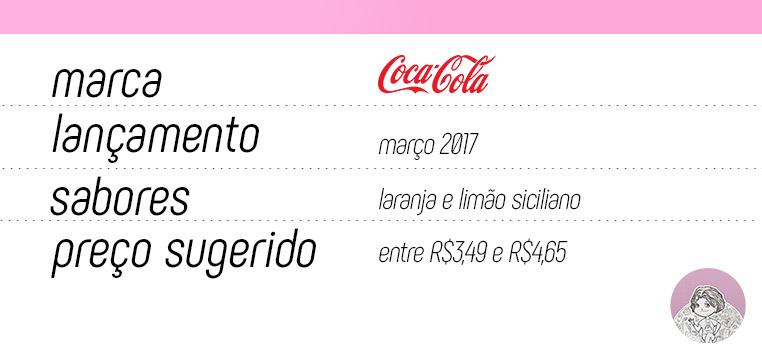 Tabela novos sabores Coca-Cola laranja e limão siciliano