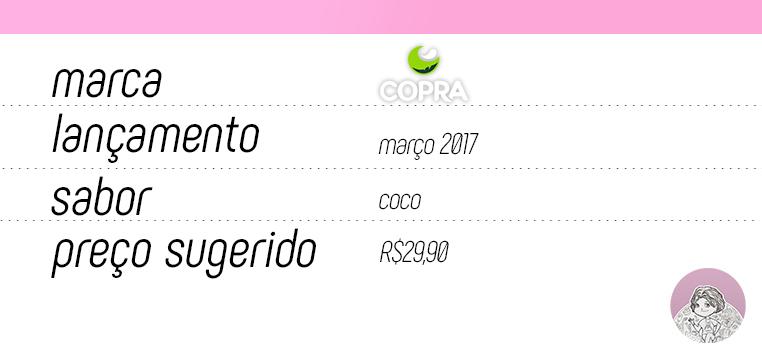 Tabela Óleo de coco spray Copra