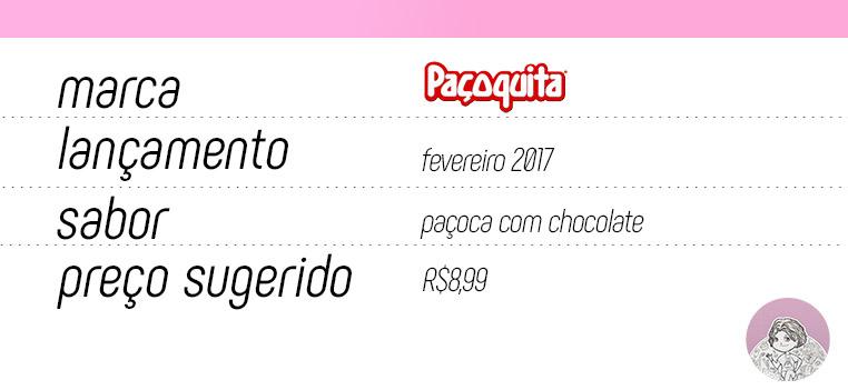 Tabela Paçoquita Cremosa com chocolate