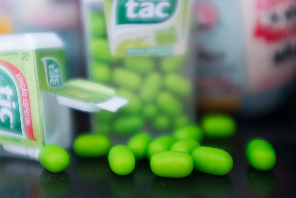 Bala Tic Tac maçã verde