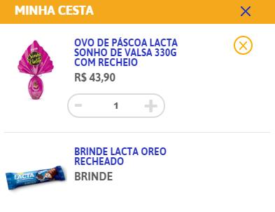 Brinde e-commerce Lacta para páscoa 2017