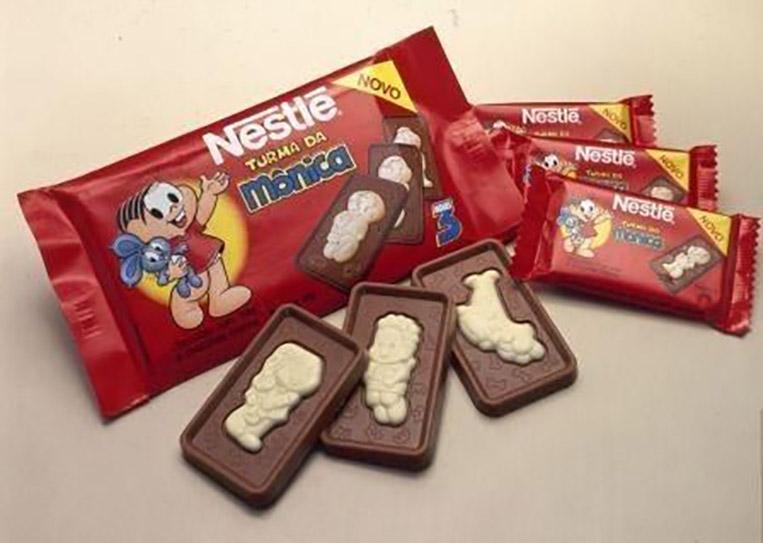 Chocolate Turma da Mônica anos 90