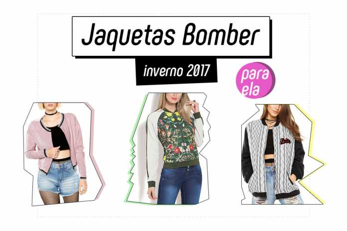 Jaquetas Bomber inverno 2017 para ela