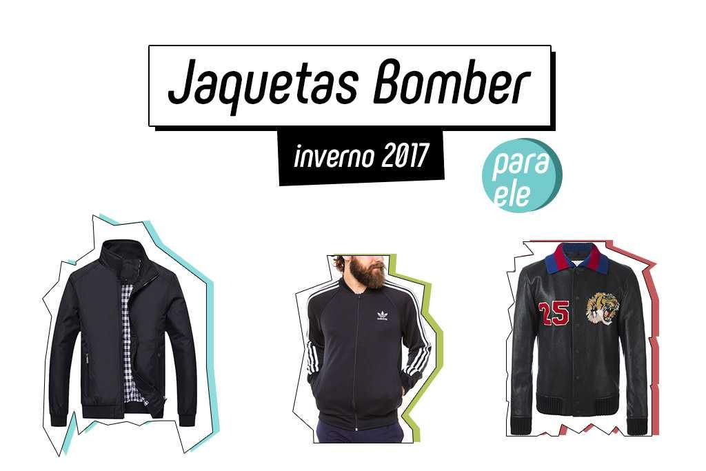 Jaquetas Bomber inverno 2017 para ele