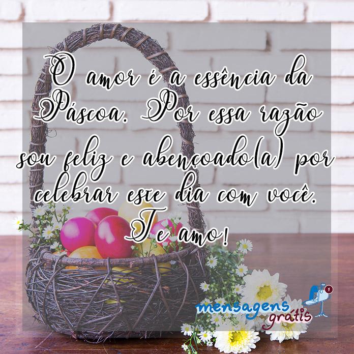 Mensagem de Páscoa 2019 para Namorado(a)
