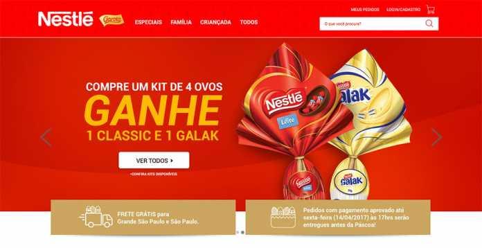 E-commerce MinhaPascoa Garoto e Nestlé