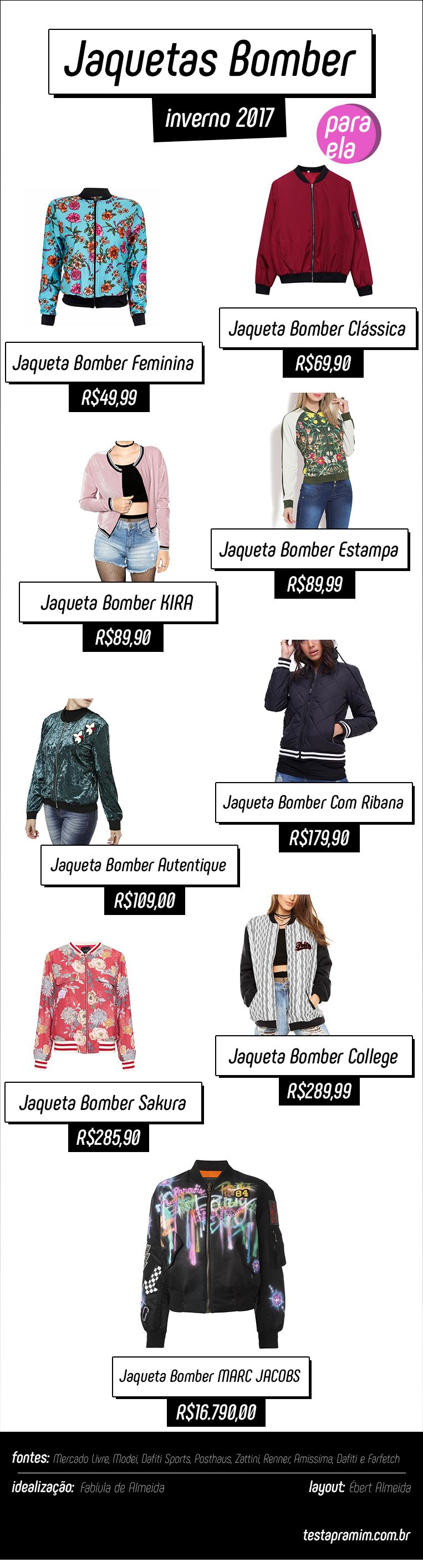 Jaquetas Bomber inverno 2017