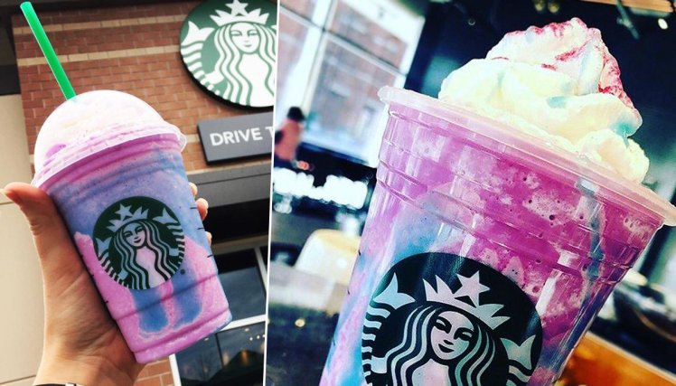 Visual Unicorn Frappuccino Starbucks