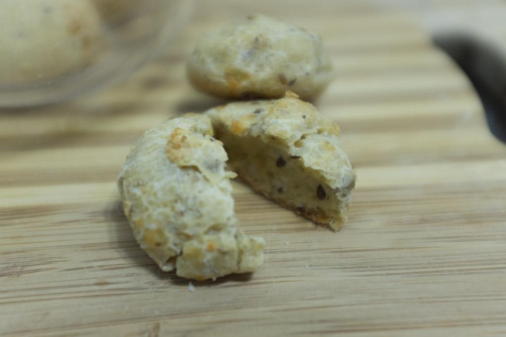 Interior pão de queijo Fit Forno de Minas