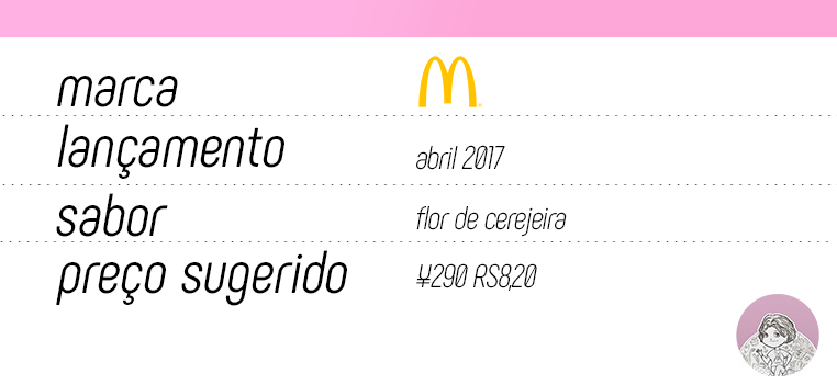 Tabela Sakura McFloat McDonald's Japão