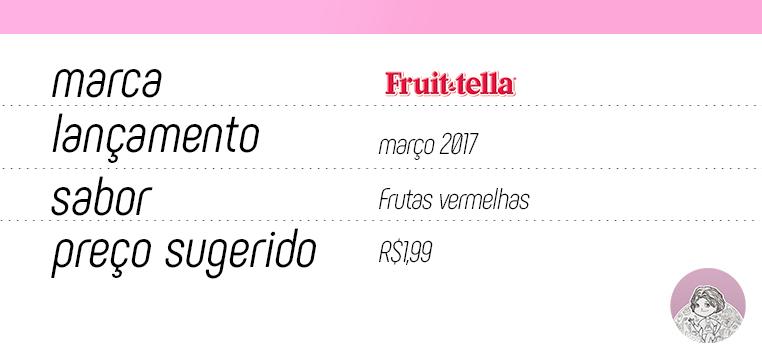 Tabela nova Fruittella Gelato