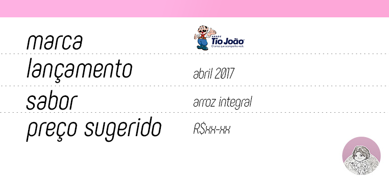 Tabela Novos Tio João Integral linha Cozinha Fácil