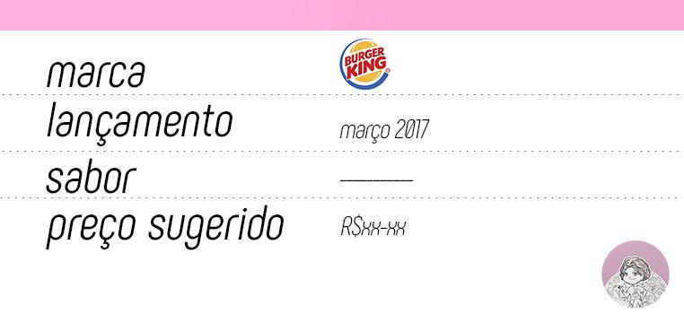 Tabela sobremesas Burger King Romeu e Julieta