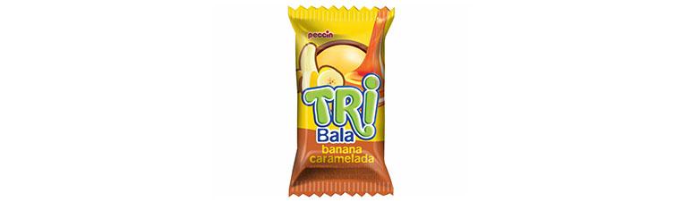 TRI Bala banana caramelada Peccin