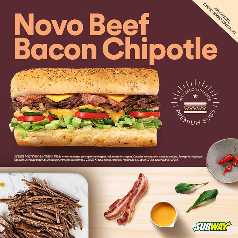 Beef Bacon Chipotle Subway divulgação
